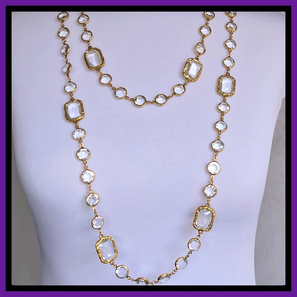5116eecd3f00bc CHANEL Jewelry | 1981 Gold Austrian Crystal Necklace | Poshmark